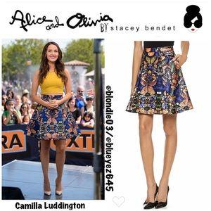 """Alice + Olivia """"Nyla"""" butterfly skirt 6"""